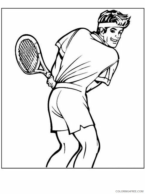 Tennis Coloring Pages for Kids tennis ziENW Printable 2021 653 Coloring4free