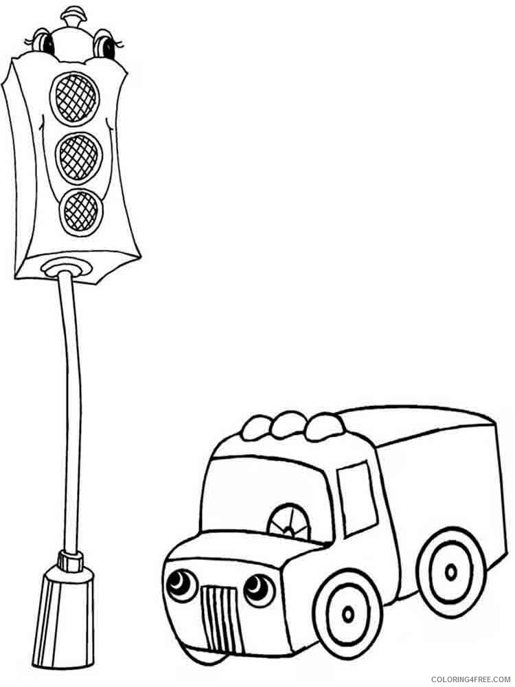 Traffic Light Coloring Pages for Kids traffic light 10 Printable 2021 670 Coloring4free