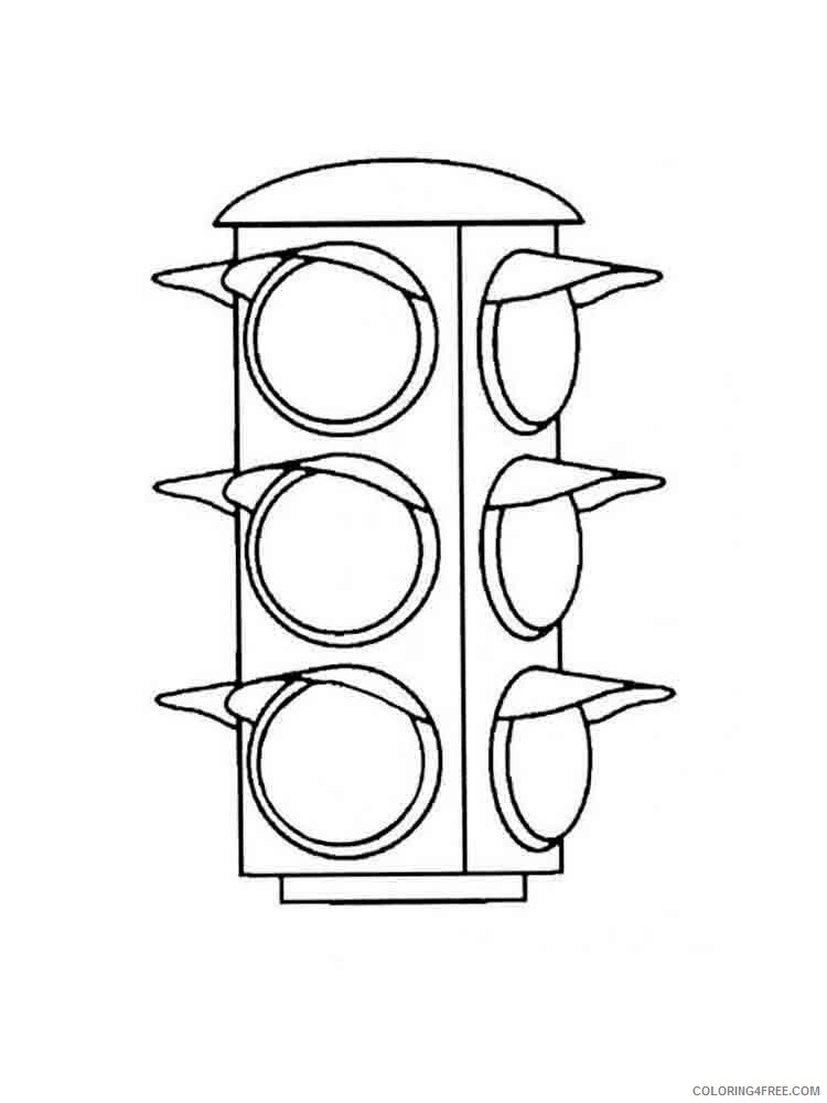 Traffic Light Coloring Pages for Kids traffic light 11 Printable 2021 671 Coloring4free