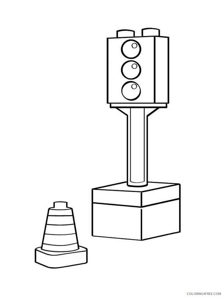 Traffic Light Coloring Pages for Kids traffic light 13 Printable 2021 672 Coloring4free
