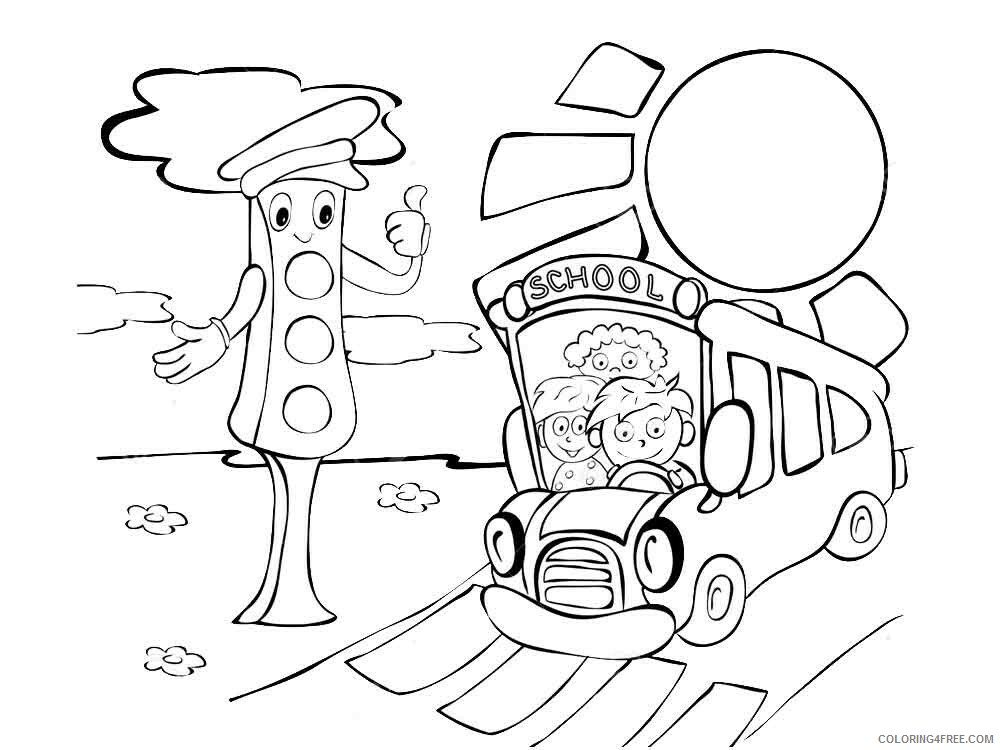 Traffic Light Coloring Pages for Kids traffic light 15 Printable 2021 673 Coloring4free