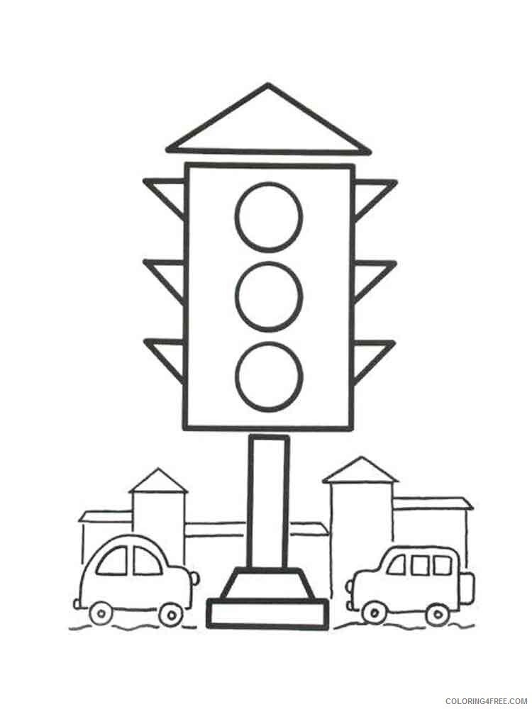 Traffic Light Coloring Pages for Kids traffic light 17 Printable 2021 675 Coloring4free