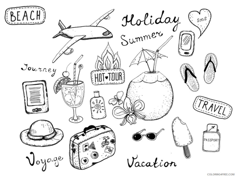 Travel Coloring Pages for Kids Travel 9 Printable 2021 688 Coloring4free