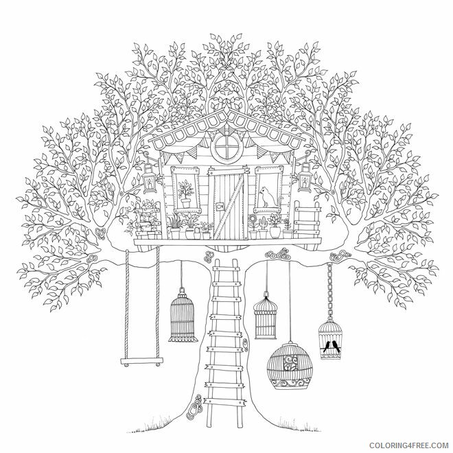 Treehouse Coloring Pages for Kids Beautiful Treehouse Printable 2021 693 Coloring4free