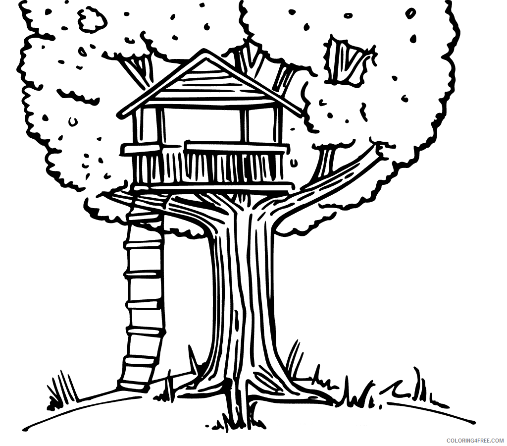 Treehouse Coloring Pages for Kids Treehouse Printable 2021 702 Coloring4free