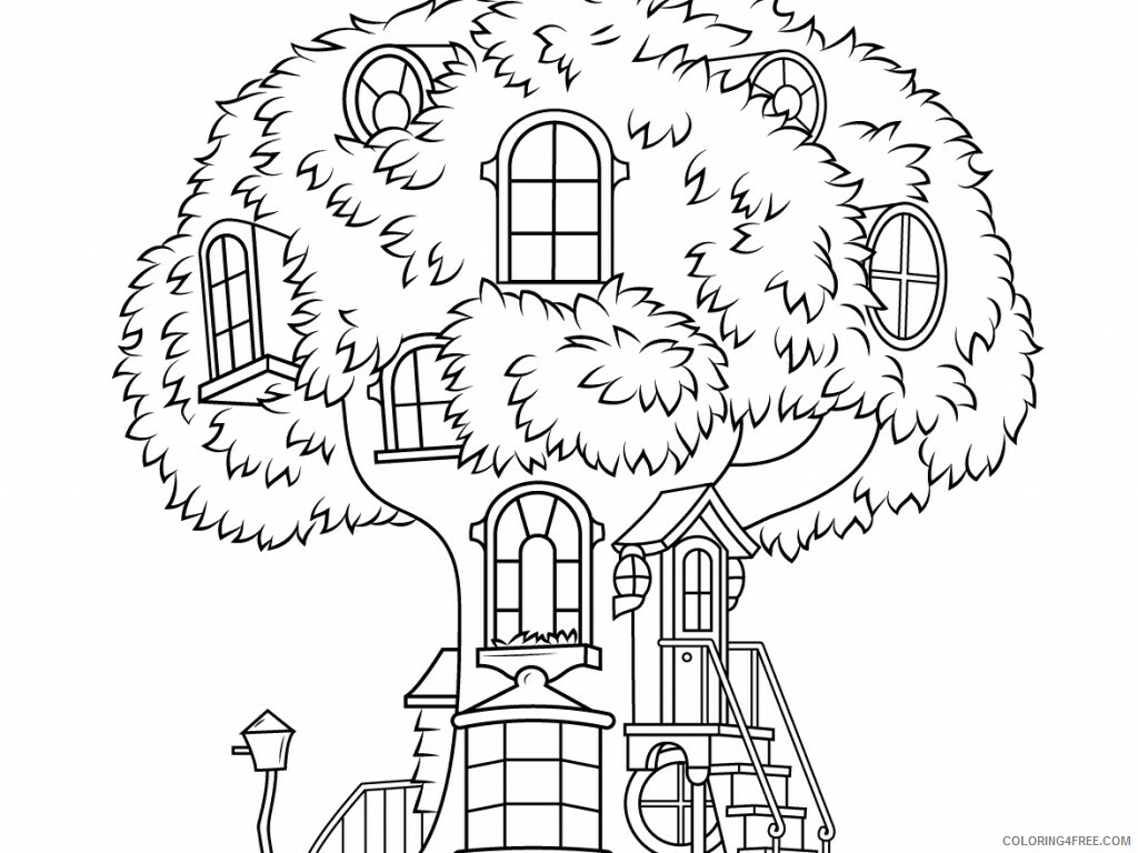 Treehouse Coloring Pages for Kids new treehouse perfect ideas Printable 2021 689 Coloring4free