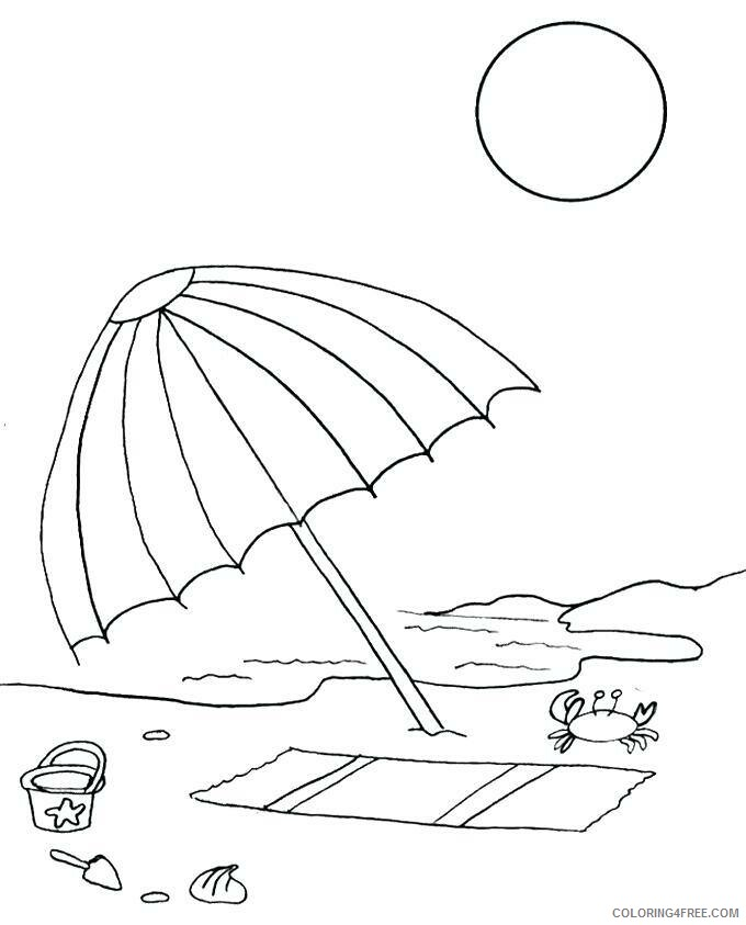 Umbrella Coloring Pages for Kids Beach Umbrella Printable 2021 719 Coloring4free
