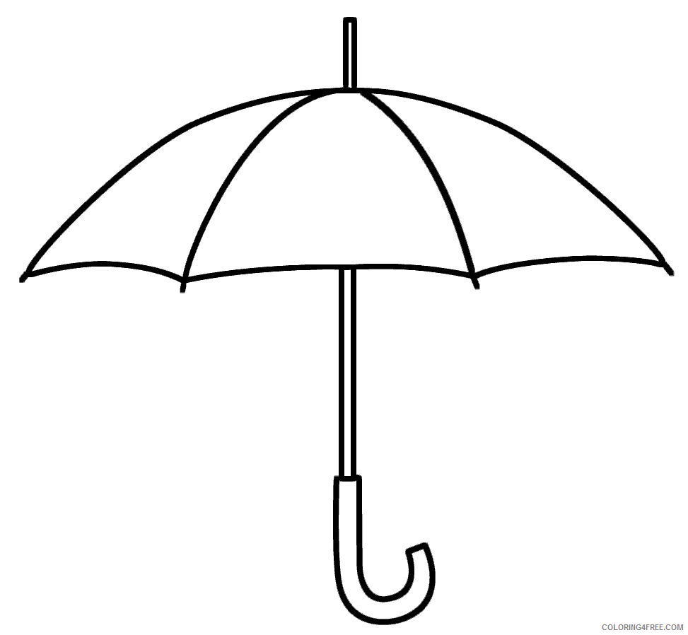 Umbrella Coloring Pages for Kids Easy Umbrella Printable 2021 723 Coloring4free