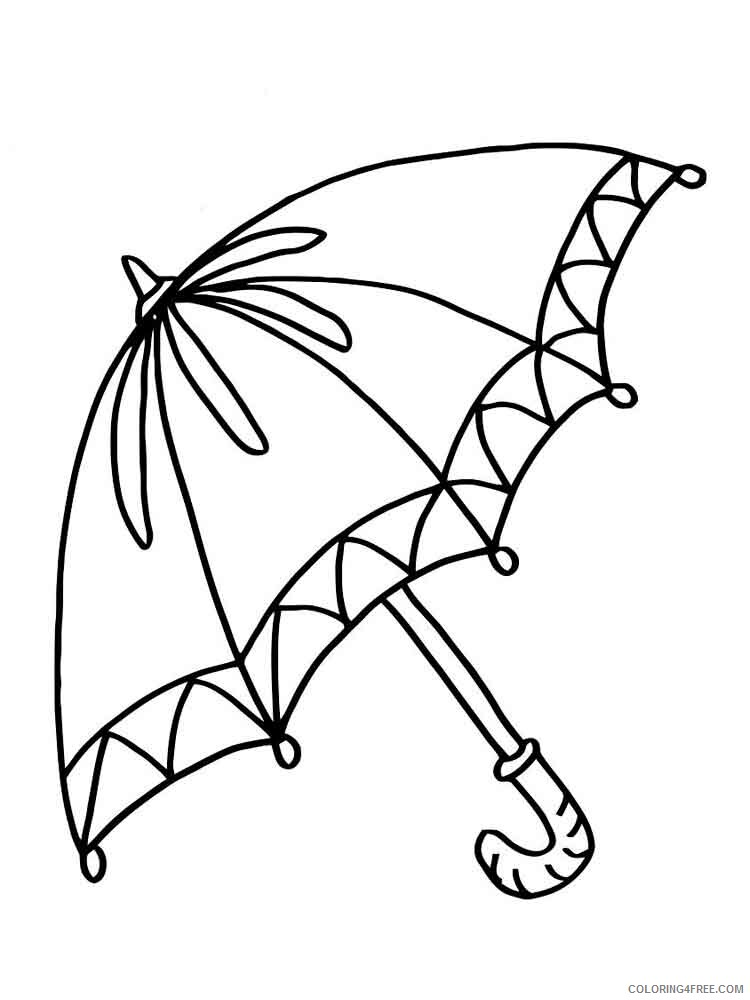 Umbrella Coloring Pages For Kids Umbrella 10 Printable 2021 732 Coloring4free Coloring4free Com