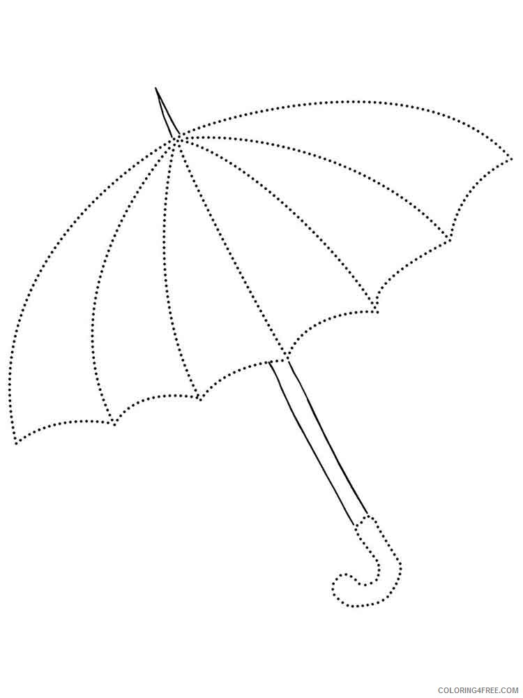Umbrella Coloring Pages for Kids umbrella 3 Printable 2021 735 Coloring4free