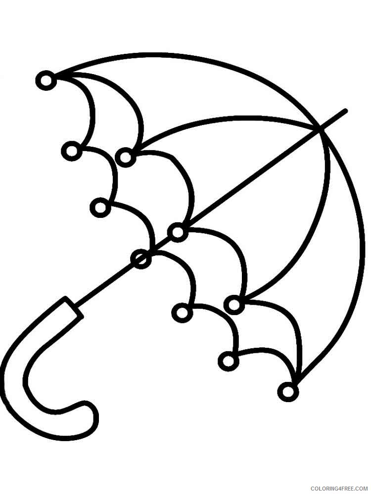 Umbrella Coloring Pages for Kids umbrella 6 Printable 2021 737 Coloring4free