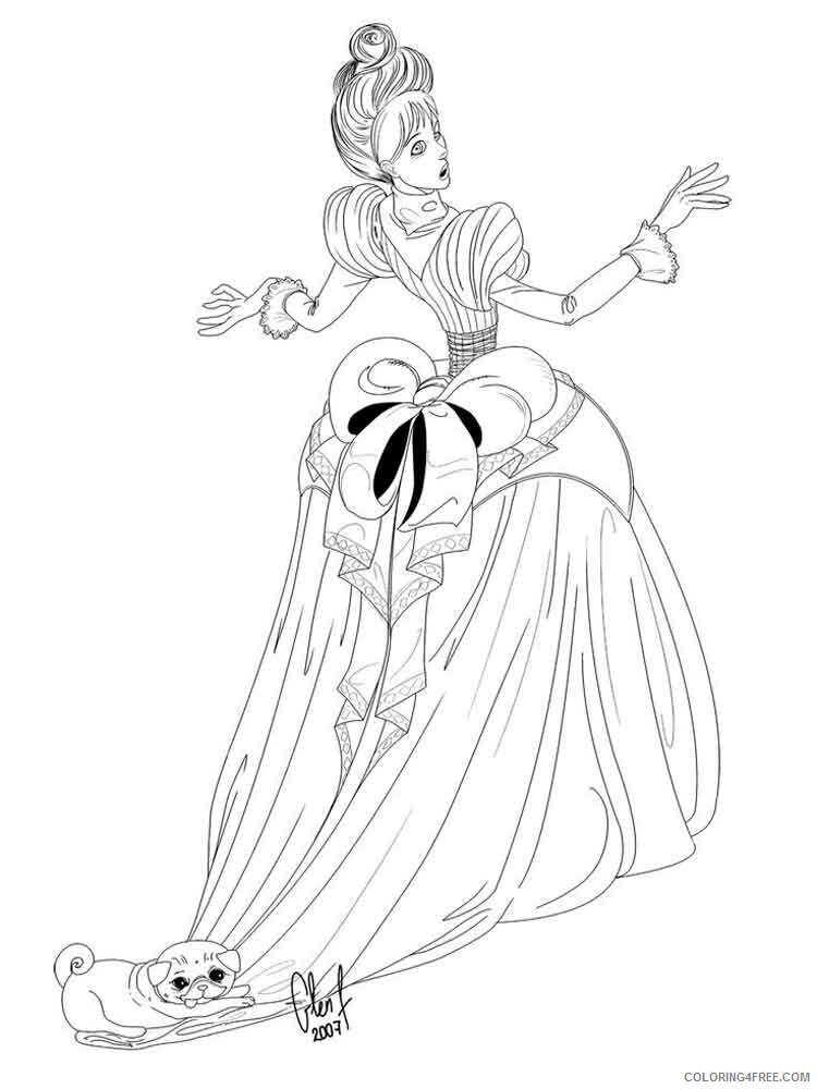 Victorian Woman Coloring Pages for Girls victorian woman 11 Printable 2021 1384 Coloring4free