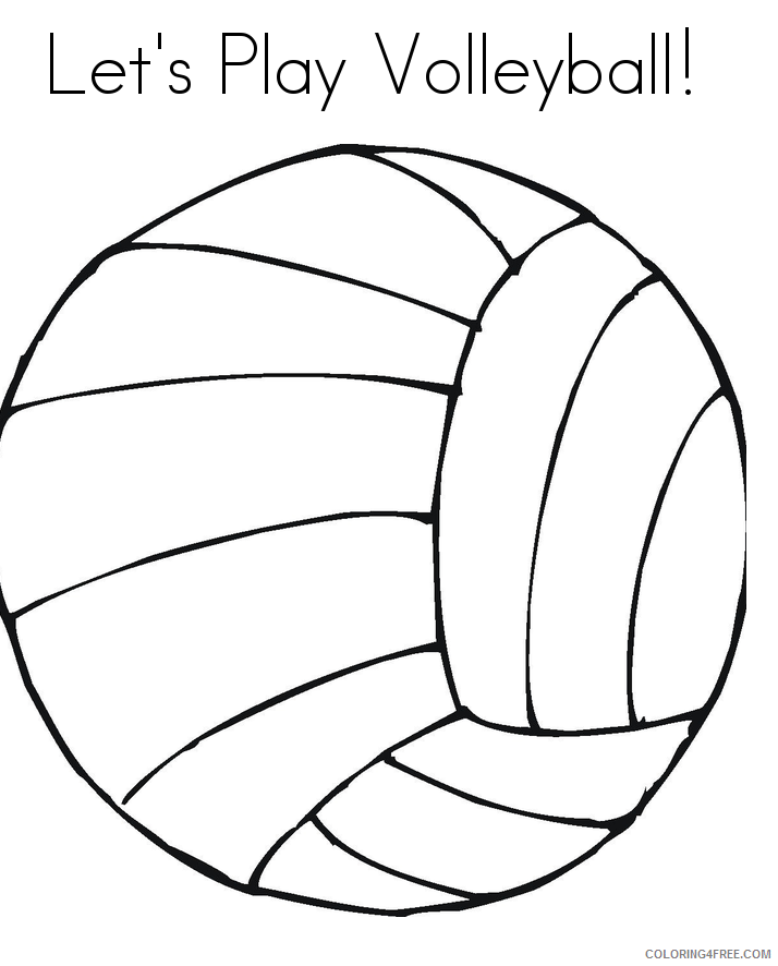 Volleyball Coloring Pages for Kids Free of Volleyball Printable 2021 749 Coloring4free