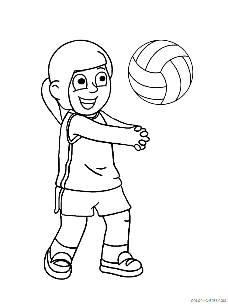 Volleyball Coloring Pages for Kids Volleyball 1 Printable 2021 755 Coloring4free