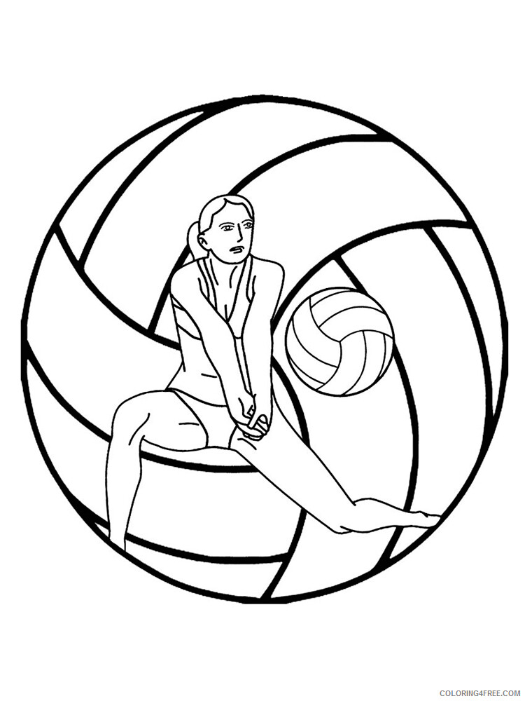 Volleyball Coloring Pages for Kids Volleyball 5 Printable 2021 761 Coloring4free