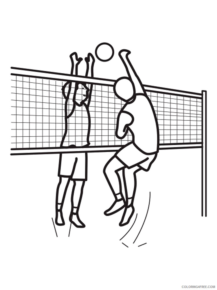 Volleyball Coloring Pages for Kids Volleyball 6 Printable 2021 762 Coloring4free