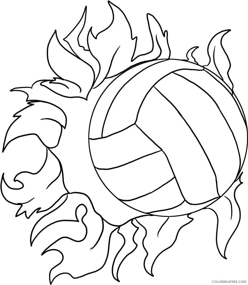 Volleyball Coloring Pages For Kids Volleyball Printable 2021 754 Coloring4free Coloring4free Com
