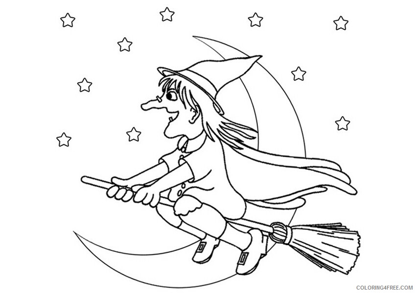 Witch Coloring Pages for Girls Free Witch For Kids Printable 2021 1396 Coloring4free