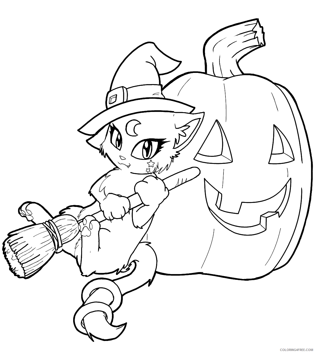 Witch Coloring Pages for Girls Free Witch Printable 2021 1395 Coloring4free