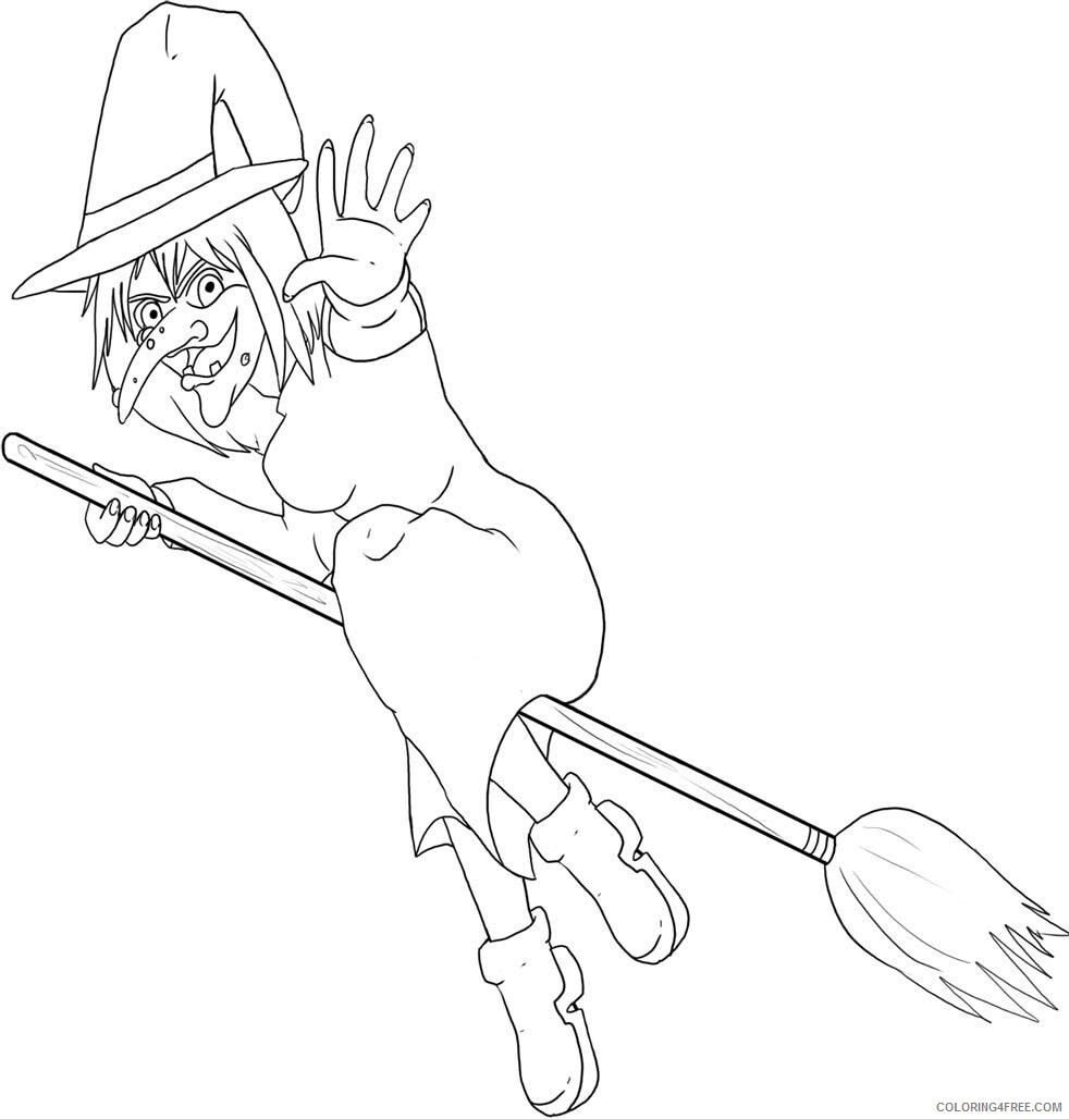 Witch Coloring Pages for Girls Image of Witch Printable 2021 1404 Coloring4free