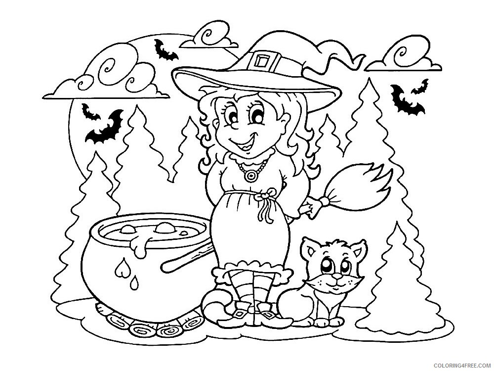 Witch Coloring Pages for Girls Witch 11 Printable 2021 1418 Coloring4free