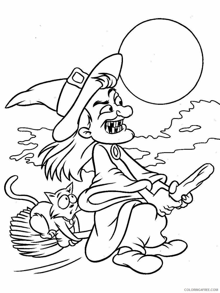 Witch Coloring Pages for Girls Witch 14 Printable 2021 1421 Coloring4free