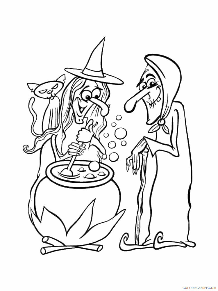Witch Coloring Pages for Girls Witch 4 Printable 2021 1424 Coloring4free