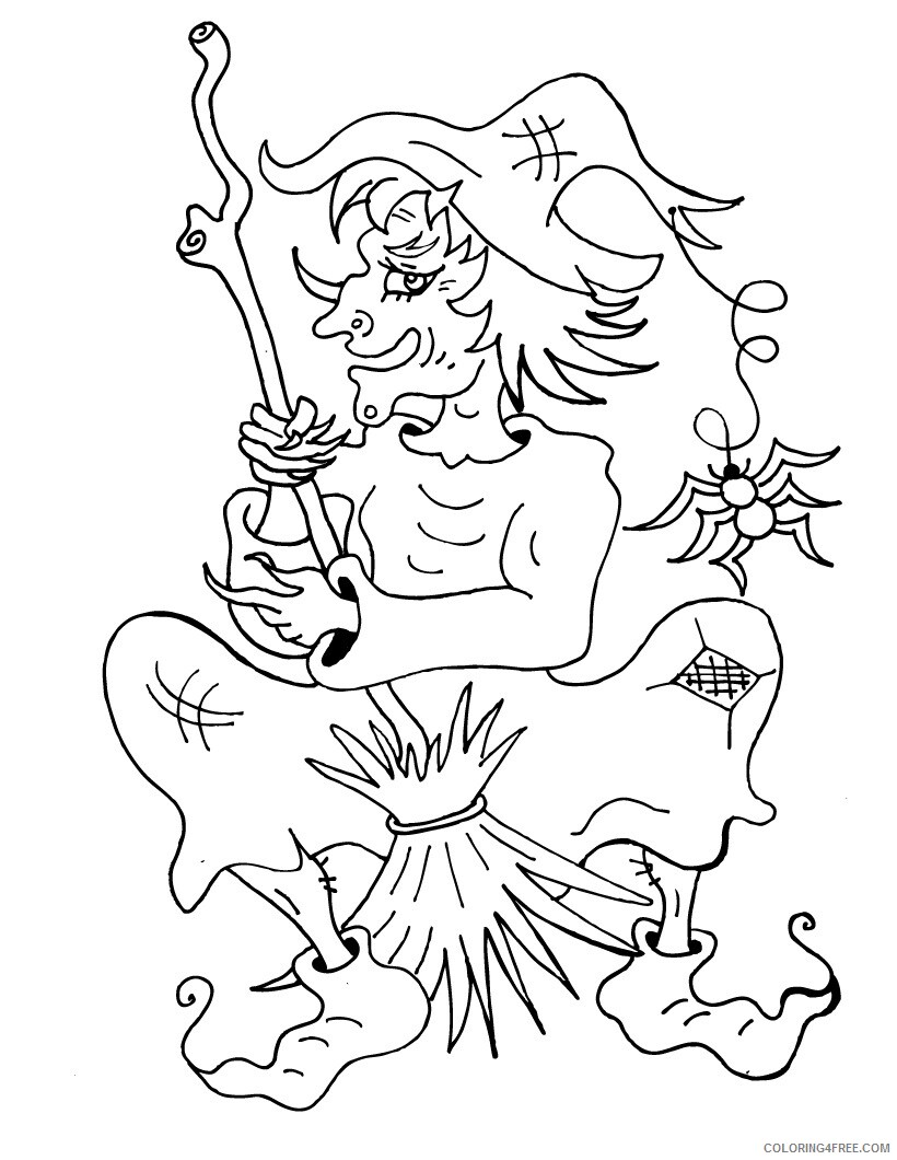 Witch Coloring Pages for Girls Witch For Kids Printable 2021 1429 Coloring4free