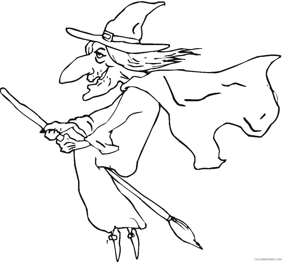 Witch Coloring Pages for Girls Witch For Kids Printable 2021 1432 Coloring4free
