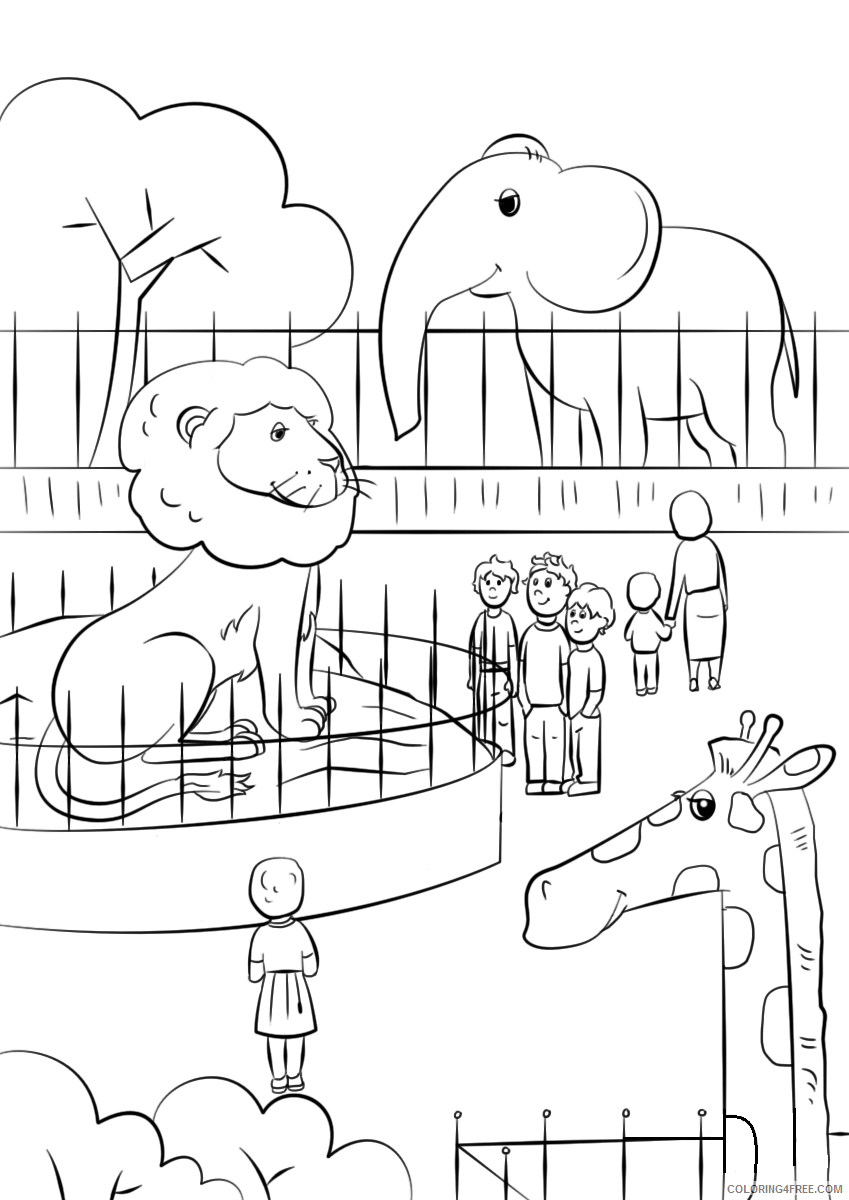 Zoo Coloring Pages for Kids 1576575300_zoo animals Printable 2021 783 Coloring4free