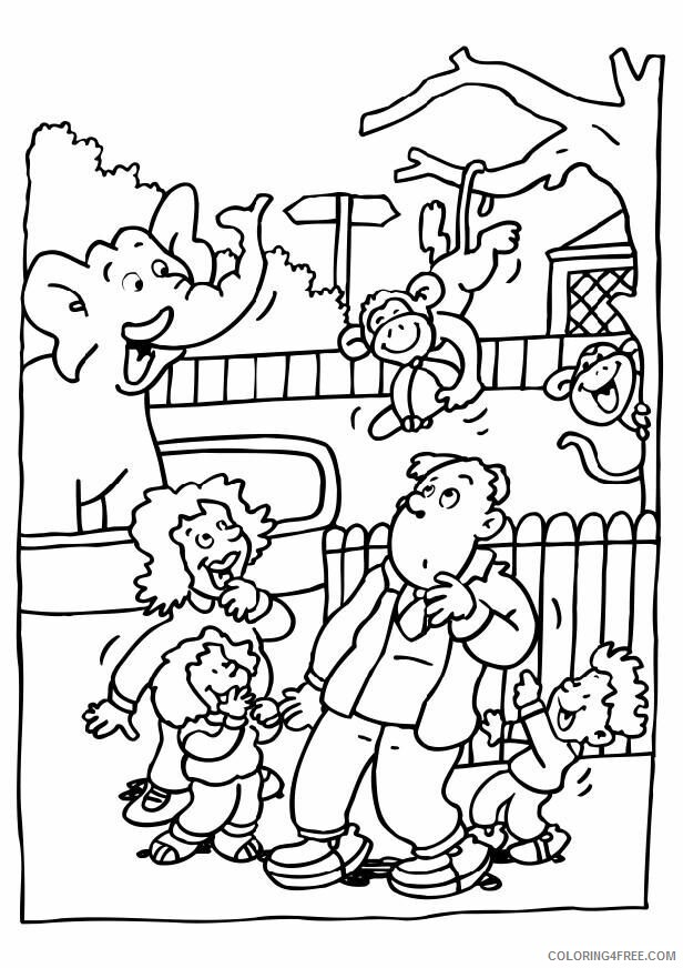 Zoo Coloring Pages for Kids Funny Zoo Animals Printable 2021 787 Coloring4free