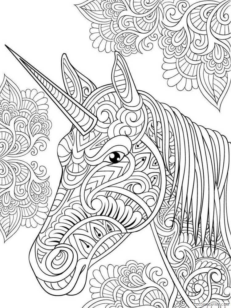 Adult Unicorn Coloring Pages Unicorn For Adults 2 Printable 2021 0086  Coloring4free - Coloring4Free.com