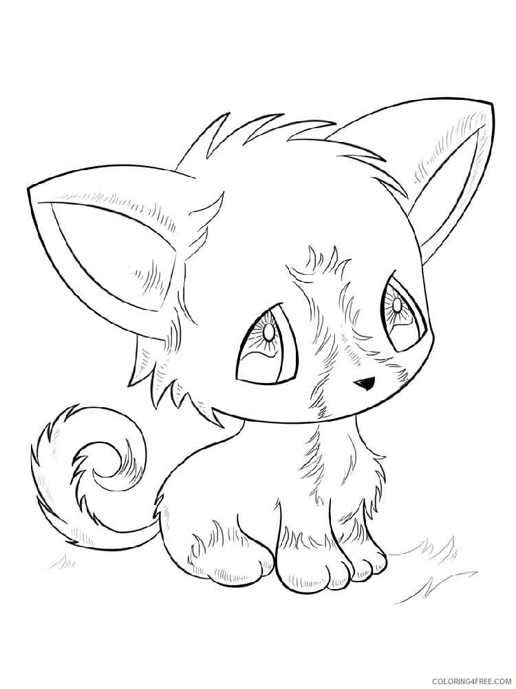 Anime Animals Coloring Pages Anime Animals 7 Printable 2021 0214  Coloring4free - Coloring4Free.com