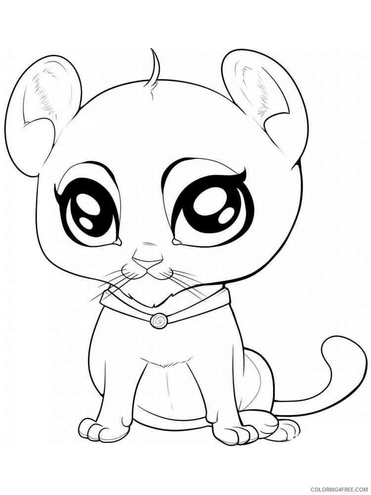 Anime Animals Coloring Pages Anime Animals 8 Printable 2021 0215  Coloring4free - Coloring4Free.com