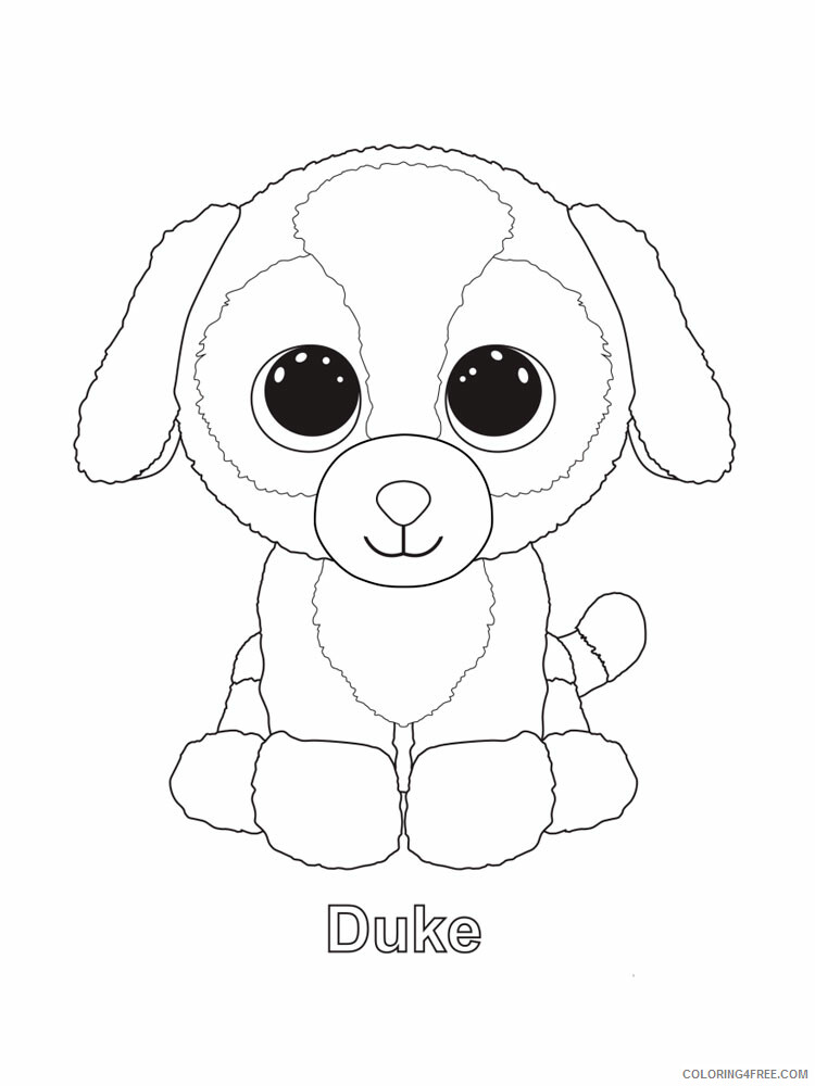 Beanie Boo Coloring Pages Beanie Boo 13 Printable 2021 0845 Coloring4free -  Coloring4Free.com