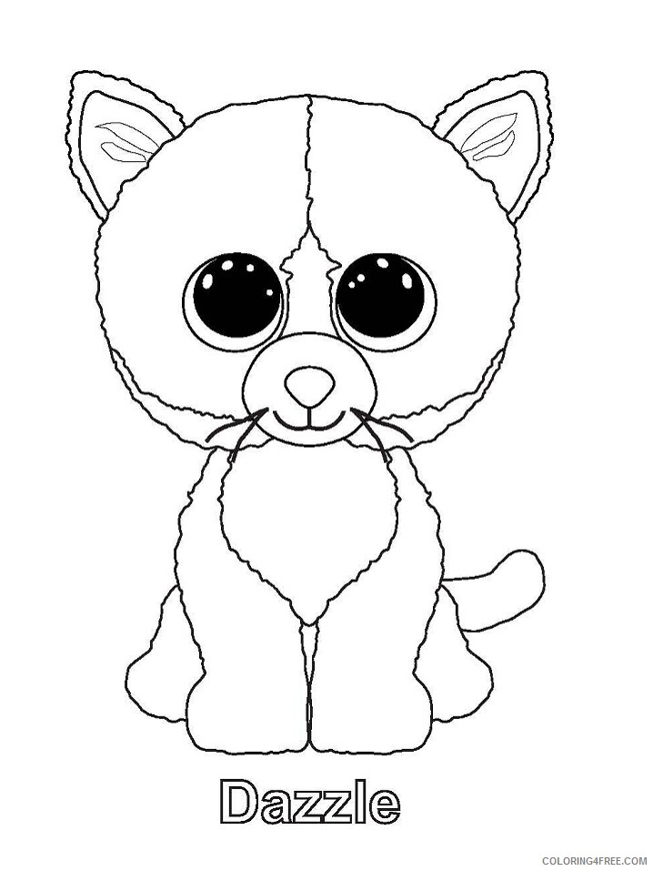 Beanie Boo Coloring Pages Beanie Boo Only 36 Printable 2021 0860  Coloring4free - Coloring4Free.com