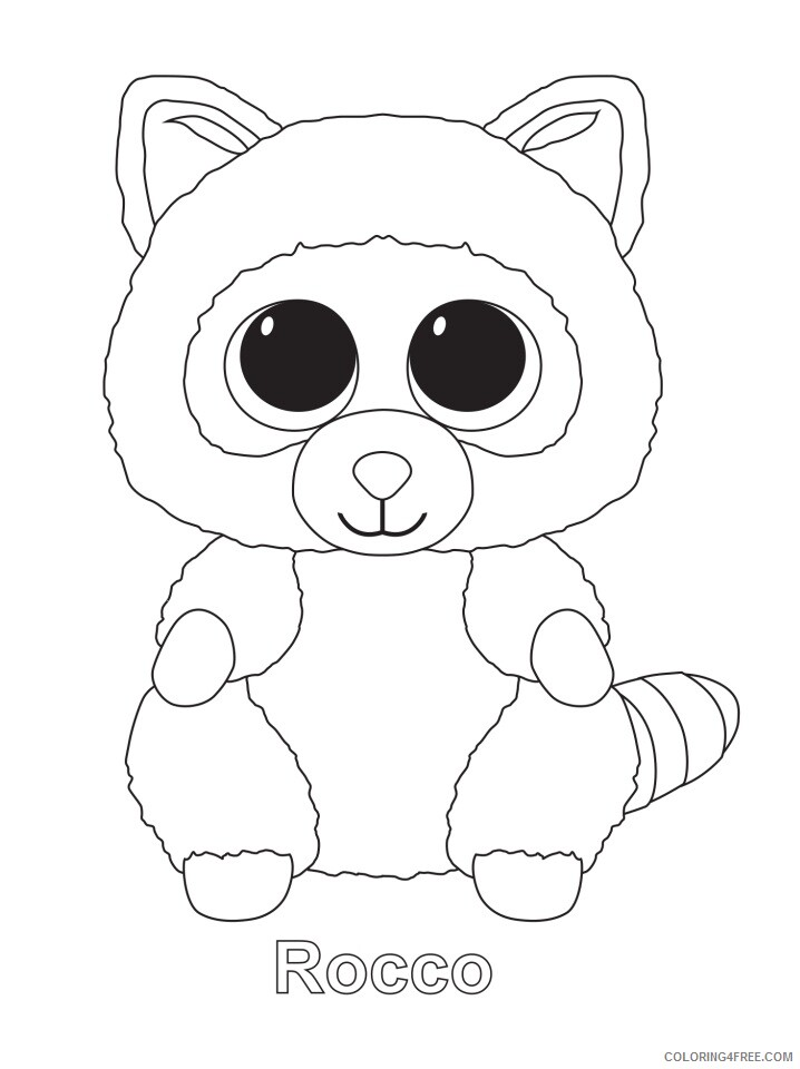 Beanie Boo Coloring Pages Beanie Boos Christmas 4 Printable 2021 0862  Coloring4free - Coloring4Free.com
