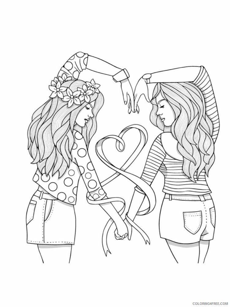 Best Friend Coloring Pages Best Friend 1 Printable 2021 0882 Coloring4free  - Coloring4Free.com