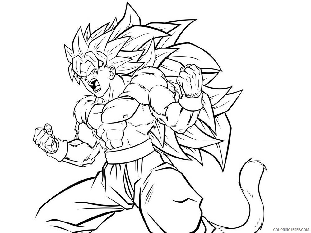 Dragon Ball Z Printable Coloring Pages Anime Dragon Ball Z 18 2021 0500  Coloring4free - Coloring4Free.com