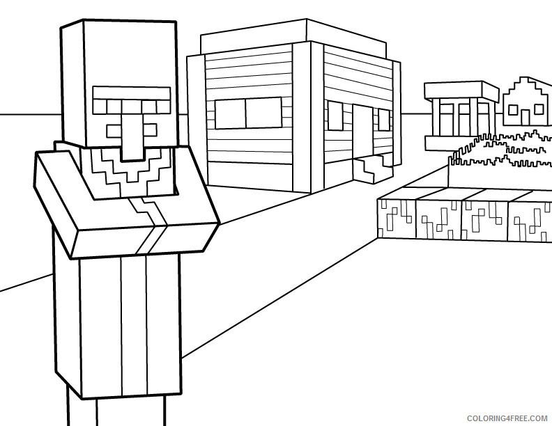 Minecraft Coloring Pages Games Free Minecraft Printable 2021 0444  Coloring4free - Coloring4Free.com
