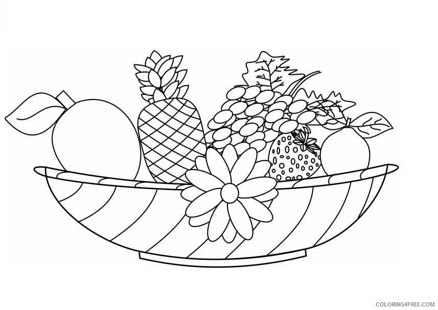 Mixed Fruit Coloring Pages Fruits Food Printable Fruit For Kids Printable 2021 298 Coloring4free Coloring4free Com