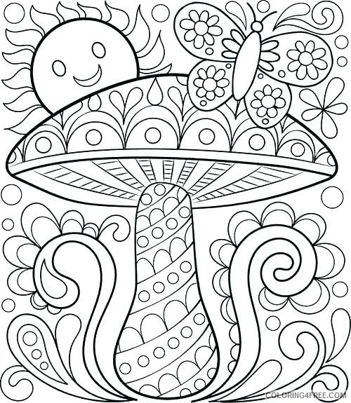 Mushrooms Coloring Pages Nature Spring Mushroom Printable 2021 423  Coloring4free - Coloring4Free.com