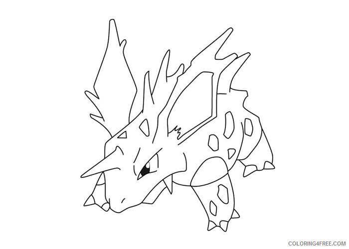 Nidorino Pokemon Characters Printable Coloring Pages Nidorino pokemon 2021 061 Coloring4free