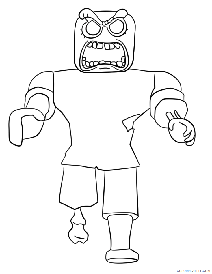 Roblox Coloring Pages Games roblox zobie Printable 2021 0949 Coloring4free