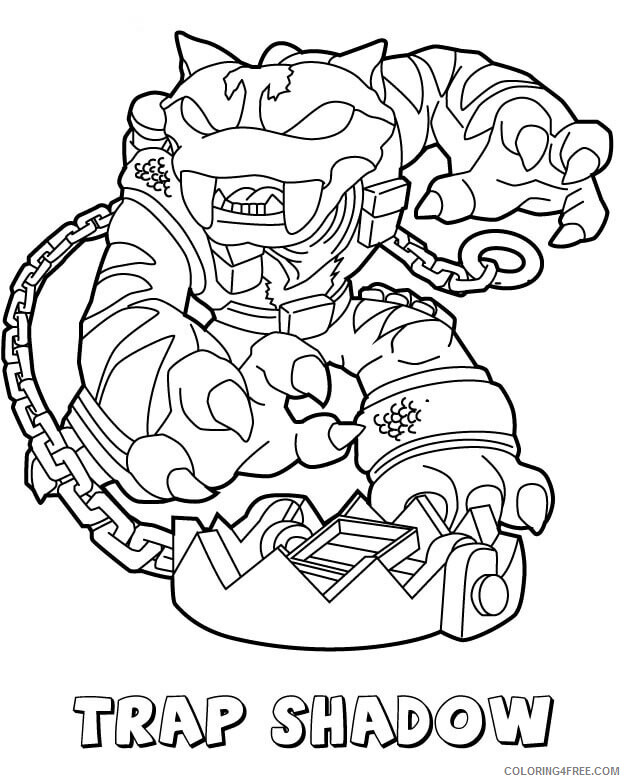 Skylanders Coloring Pages Games Trap Shadow Skylanders Printable 2021 0992 Coloring4free Coloring4free Com