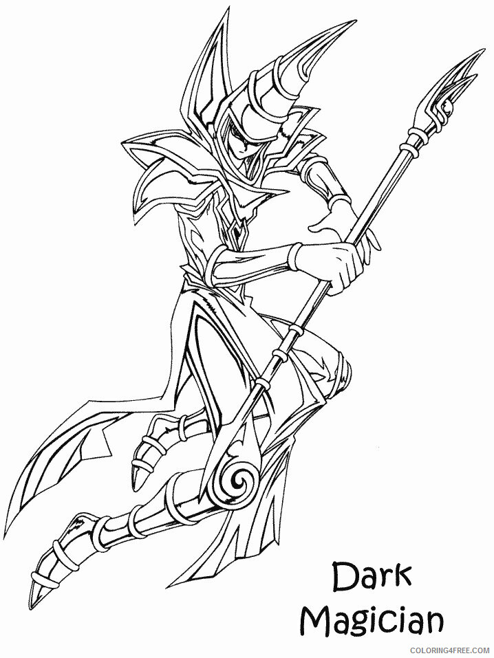 Yu Gi Oh Printable Coloring Pages Anime 40 2021 1191 Coloring4free Coloring4free Com