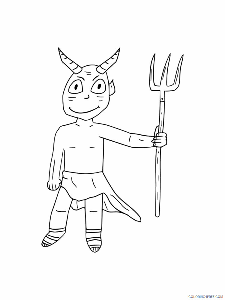 Devil Coloring Pages Devil 1 Printable 2021 2017 Coloring4free