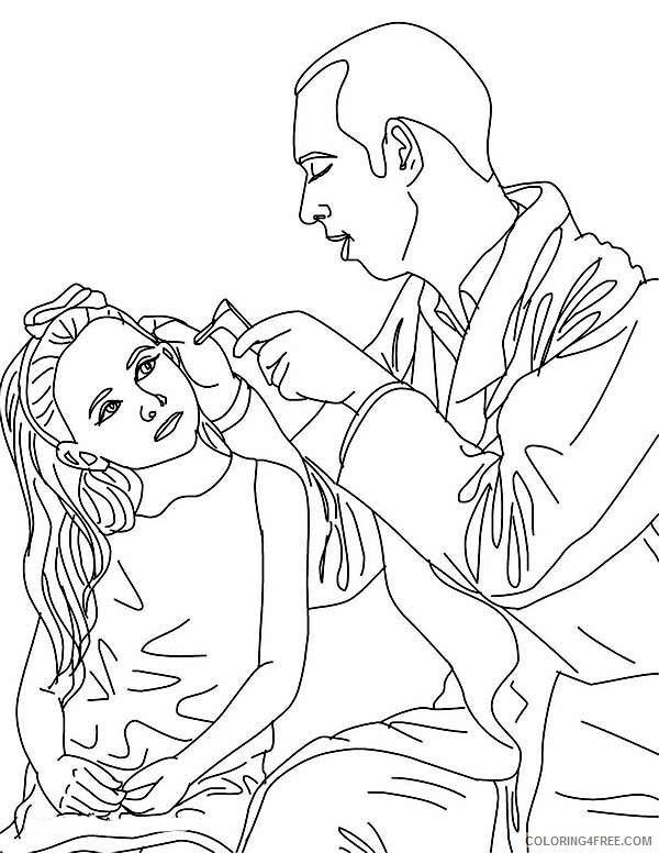 Doctor Coloring Pages Doctor Checking on His Patient Ear Printable 2021 2045 Coloring4free