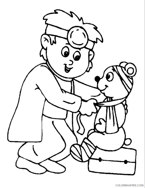 Doctor Coloring Pages Doctor Heal Sick Animal Printable 2021 2054 Coloring4free