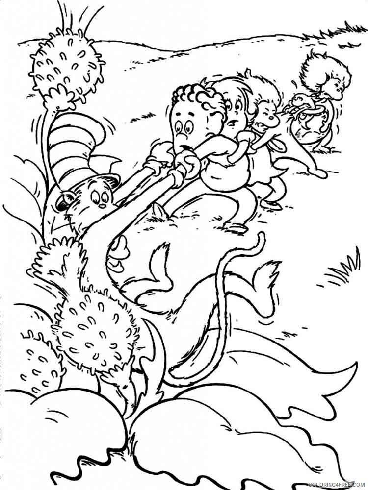 Dr Seuss Coloring Pages dr seuss 12 Printable 2021 2066 Coloring4free